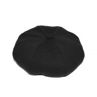8 PANELS BERET  BASIC BLACK