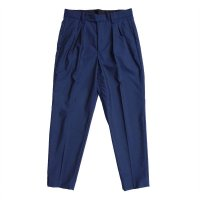 【new price】 STRETCH 2TUCK TROUSERS  NAVY