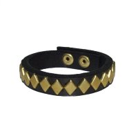 DIAMOND STUDS BRACELET  BLACK-GOLD