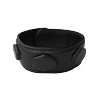 COVERED HEXAGON WRISTBAND  BLACK