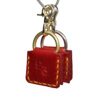 £2 KEY RING  BURGUNDY