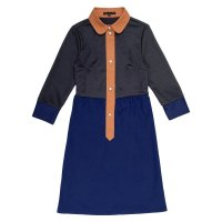 COLORED KNIT DRESS  GREY-NAVY