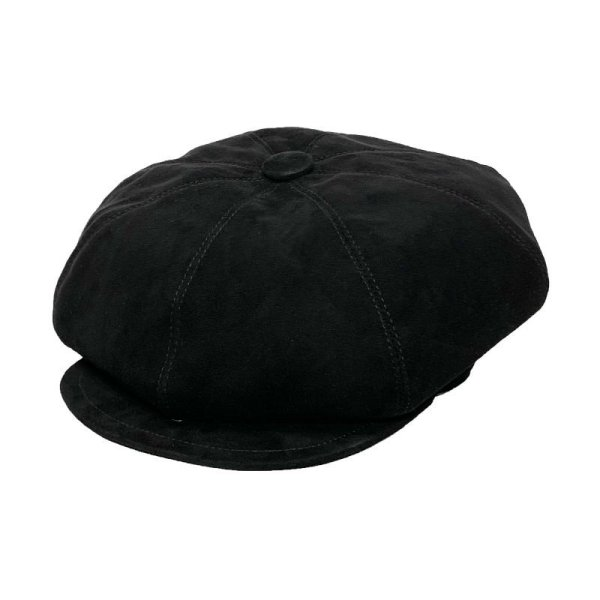 画像1: FLAT TOP CASQUETTE  SUEDE BLACK