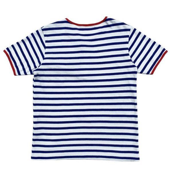 画像2: STRIPED HENLEY NECH SHIRTS  WHITE-BLUE