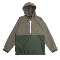 CAGOULE  CHECK OLIVE