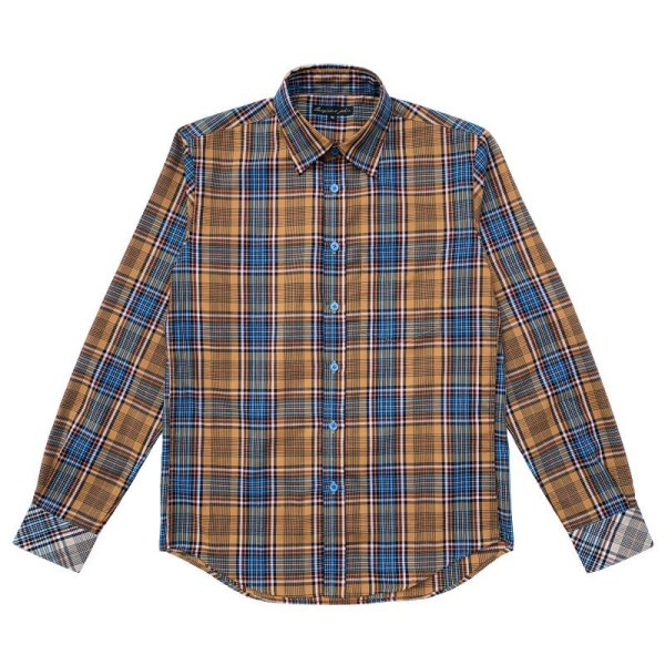 画像1: TARTAN SHIRTS  ORANGE