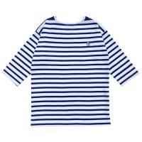 STRIPED BASQUE SHIRTS  WHITE-NAVY