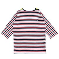 STRIPED BASQUE SHIRTS  WHITE-NAVY-RED