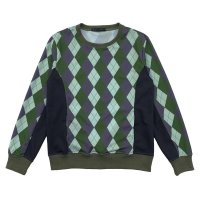 ARGYLE JUMPER  OLIVE MIX