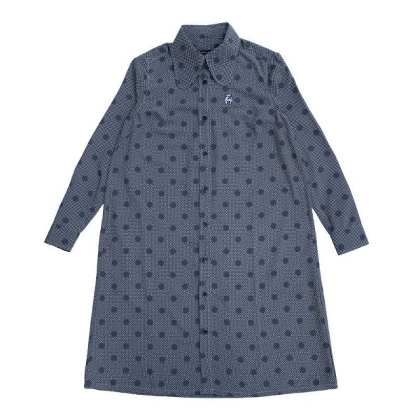 画像1: BEAGLE SHIRTS DRESS  BLUE