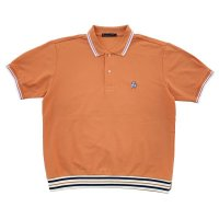 RELAXING RIBBED POLO  ORANGE