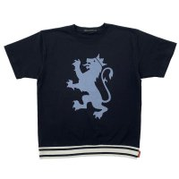 RELAXING RIBBED LION T-SH  BLACK