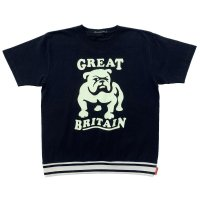 RELAXING RIBBED BULLDOG T-SH  BLACK