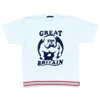 RELAXING RIBBED BULLDOG T-SH  WHITE