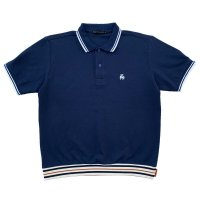 RELAXING RIBBED POLO  NAVY