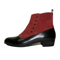 BUTTONED BOOTS  BLACK-RED